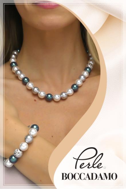 Perle: eleganza raffinata con giochi di volumi e colori