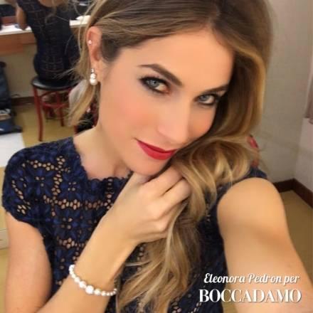 Eleonora Pedron incantevole con Boccadamo