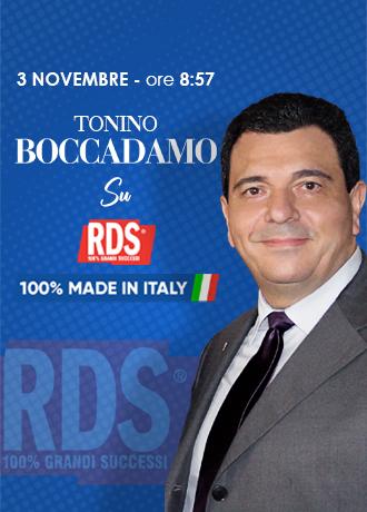 RDS intervista Tonino Boccadamo