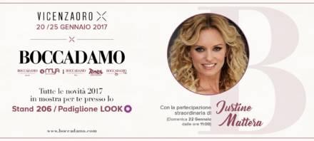 Nuovo stand e Justine Mattera per Boccadamo a VicenzaOro