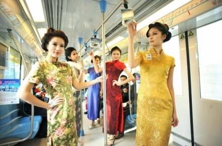 Modelle cinesi in metro: il sito si promuove così