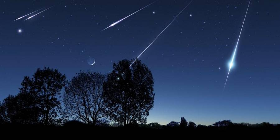 Meteor shower,artwork
